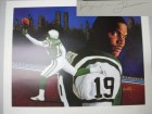 Keyshawn Johnson signed New York Jets 20x20 Leon Wolf Lithograph - LTD. Edition 319