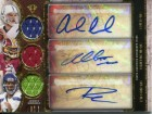 Andrew Luck, Robert Griffin III and Russell Wilson Autographed 2013 Topps Rookie Jersey Card