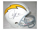LaDainian Tomlinson Autographed San Diego Chargers White Throwback Pro Line Helmet by Riddell
