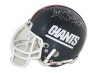Tyrone Wheatley Autographed New York Giants Throwback Authentic Mini Helmet by Riddell