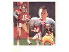 "Joe Montana Autographed 49ers/Notre Dame ""Tribute"" Lithograph by Daniel M. Smith"