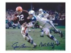 Jim Brown & Bob Lilly Cleveland Browns & Dallas Cowboys 8x10 #133 Autographed Photo