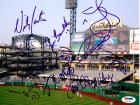 2006 Pittsburgh Pirates Autographed 8x10 Photo With 9 Total Signatures Including Jose Bautista, Ian Snell, Nate McLouth PSA/DNA #Q06602