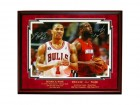 Derrick Rose and Dwyane Wade Autographed Framed 16x20 Photo
