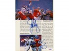 John Elway & Phil Simms Autographed Magazine Page Photo PSA/DNA #S43176