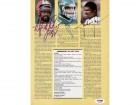 Lawrence Taylor, Alfred Jenkins & Joe Klecko Autographed Magazine Page Photo PSA/DNA #S43192