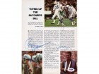 Roger Staubach, Joe Namath & James Harris Autographed Magazine Page Photo PSA/DNA #S43200