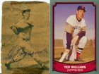 Ted Williams Autographed Newspaper Cut w/ Unsigned Card