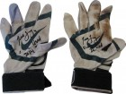 Todd Frazier Autographed 2014 Nike MVP Black on Grey Game Used Batting Gloves