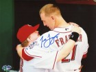 Todd Frazier Autographed Hugging Teddy 8x10 Photo