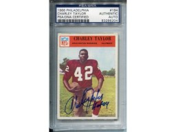 Charley Taylor Autographed 1966 Philadelphia Card (PSA/DNA)