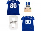 Victor Cruz Autographed New York Giants Authentic Blue Jersey