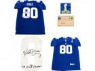 Victor Cruz SB XLVI Champs Autographed New York Giants Authentic Blue Jersey