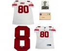 Victor Cruz SB XLVI Champs Autographed New York Giants Authentic White Jersey
