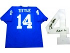 "YA Tittle ""HOF 71"" Autographed New York Giants Jersey (JSA)"