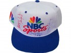 Steve Young Jerry Rice and George Seiferd Autographed NBC Sports Hat (JSA)