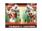 Javarris James and Graig Cooper Autographed / Signed Miami Hurricanes 8x10 Photo
